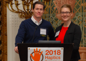 Katherine J. Kuchenbecker at the IEEE Haptics Symposium 2018