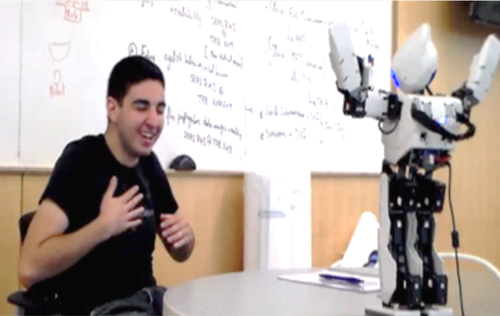 An Interactive Robotic System for Promoting Social Engagement